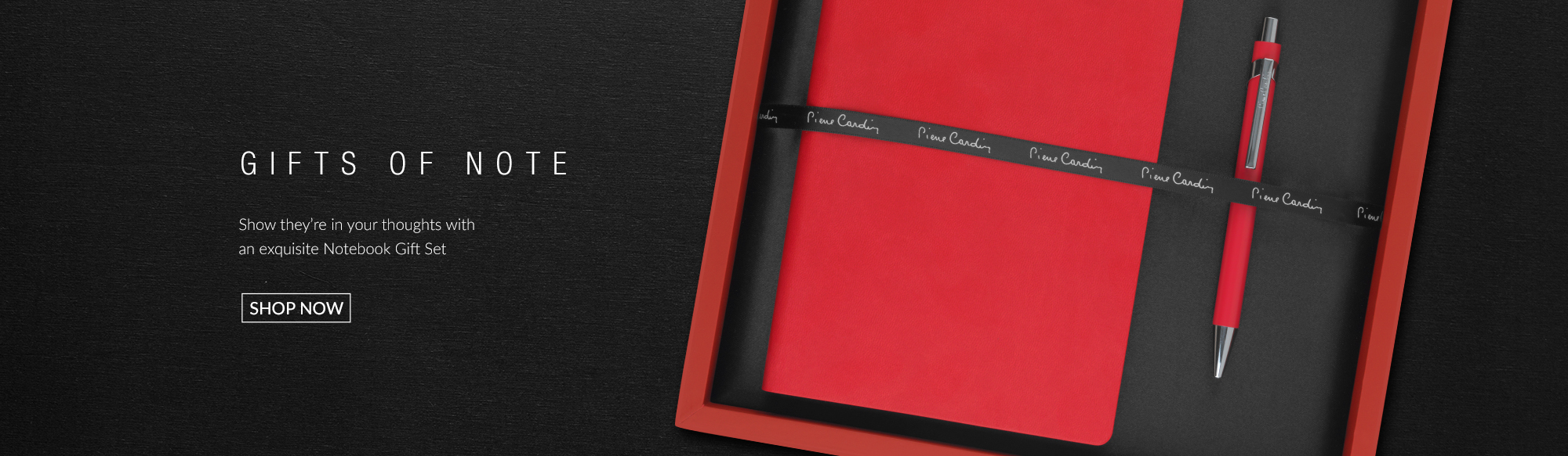 Designer designer-notebooks from Pierre Cardin